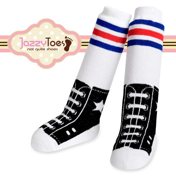 出産祝い ベビー ソックス 赤ちゃん 靴下 Jazzy Toes ジャージートー ニーハイ ジャージートー【Jazzy Toes】お洒落のコーデにオススメ♪キュートな赤ちゃん用ニーハイソックス(スポーツレジェンド)bodyrec