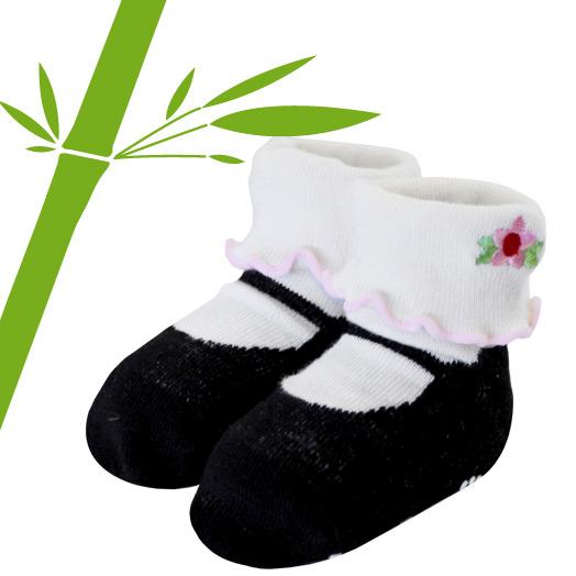 出産祝い 簡易ラッピング無料 ベビー ソックス 赤ちゃん 靴下 Jazzy Toes ブラック in ジャージートー ギフト 本日限定 メリージェーン 激安セール 優しい肌触りの竹繊維を使用 フォーマルドレスやロンパースに合わせて