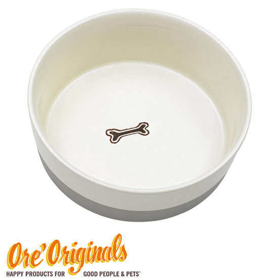 ORE original subdued two-tone design ceramic bowl (Grey)