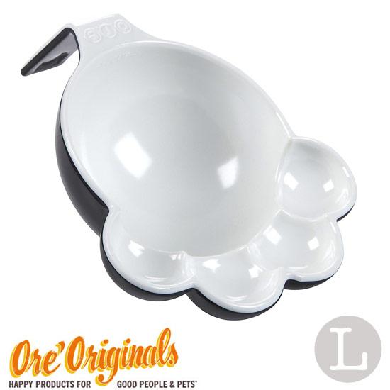 OREオリジナル ペット スプーン スクープ 犬 通信販売 猫 ペットフード ORE 2020WS-W Originals 足型シェイプがとってもかわいいフードスプーン:サイズL White Black 在庫あり OREオリジナルス