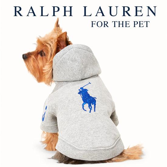 ラルフローレン【Ralph Lauren】犬用 フーデッドパーカ(Grey カラー)