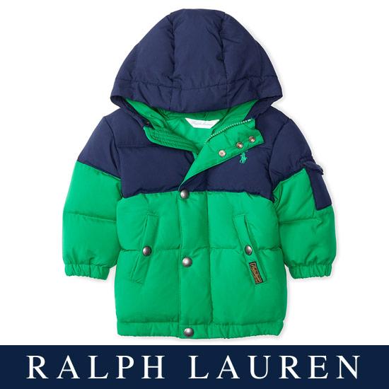 【残り12Mのみ】ラルフローレン【Ralph Lauren】フード付2トーンダウンジャケット【あす楽対応】