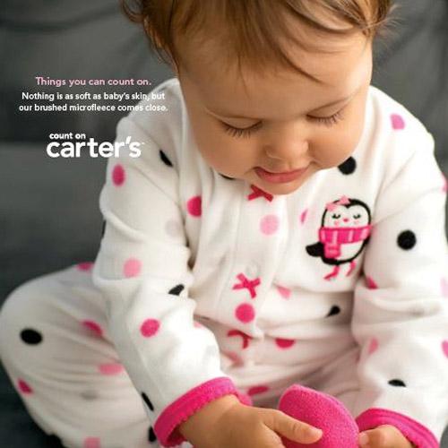 安心的卡特正规的物品(Carter's)fleece覆盖物全部(Spring Flower)