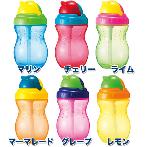 Nubia (nuby) straw bottle (320 ml) bottles and training bottles