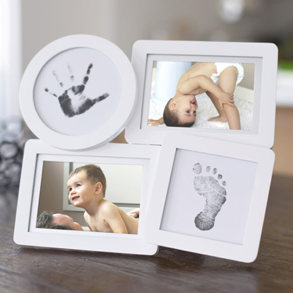 0.001 (pearhead) baby print collage frame/white