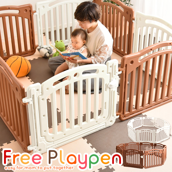 Playpen 8 Piece Set Door W/Baby Baby Fence Easy Assembly Playpen 8 Piece  Set Baby Circle Door Fence Baby Baby