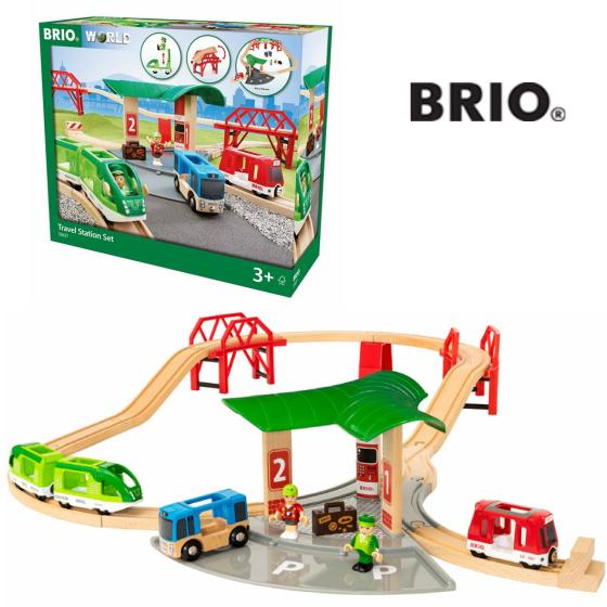 ブリオ 33627 トラベルステーションセット BRIO Travel Station Set 3歳~ 【北海道、沖縄、離島発送不可】