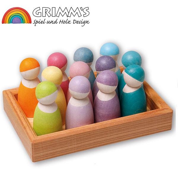 グリムス社 パステルフレンズ GRIMM'S社 木製人形 色彩のもたらす喜び 安全塗料 ドイツ製 10579