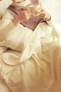 ひざ掛けやベビーのお昼寝に♪オーガニックコットンの市松シール織り ふんわり柔らかブランケット(プチケット) プリスティン PRISTINE【あす楽対応】