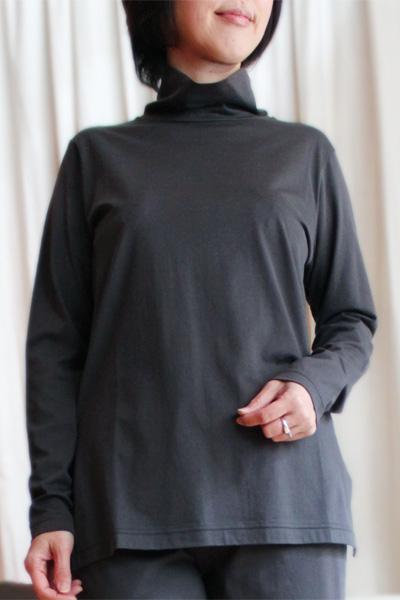 感動の肌触り・奇跡の柔らか綿!GIZA45(ギザ45)レディース高級 長袖Tシャツ【タートル・トップス・無地】【国内送料無料】【あす楽対応】