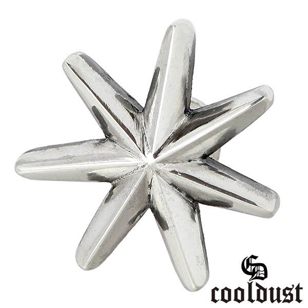 cooldust FUNKOUTS【クールダスト】 seven pointed star シルバー ピアス アクセサリー メンズ 1個売り 片耳用 星 FCE-084