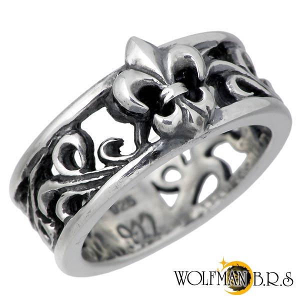 WOLFMAN B.R.S【ウルフマンB.R.S】パルメット シルバー リング 指輪 メンズ 7~15号 WO-R-071