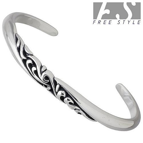 FREE STYLE【フリースタイル】 アラベスク シルバー バングル アクセサリー ブレスレット アクセサリー L シルバー925 スターリングシルバー FSB-557