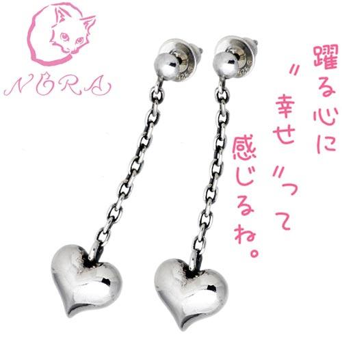 NORA【のら ノラ】 happy シルバー ピアス ペアセット 猫 ねこ ネコ 猫 ねこ ネコ 両耳用 シルバーアクセサリー シルバー925 NR-PE-006-P