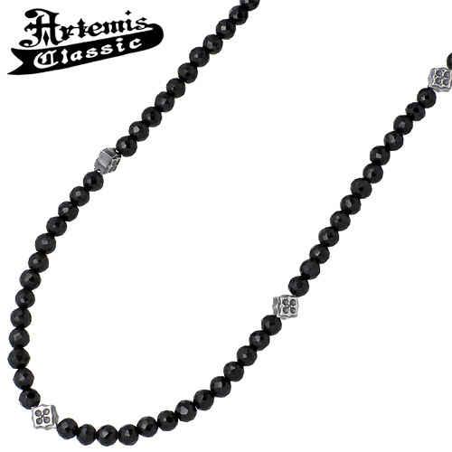 Artemis Classic【アルテミスクラシック】 トレサリー ブラックスピネル シルバーチェーン ネックレス アクセサリー シルバー925 スターリングシルバー ACCN0008