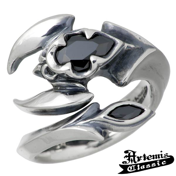 Artemis Classic【アルテミスクラシック】 ポイズン スコーピオン シルバー リング 指輪 アクセサリー メンズ ブラックキュービック 15~21号 シルバー925 スターリングシルバー ACR0230