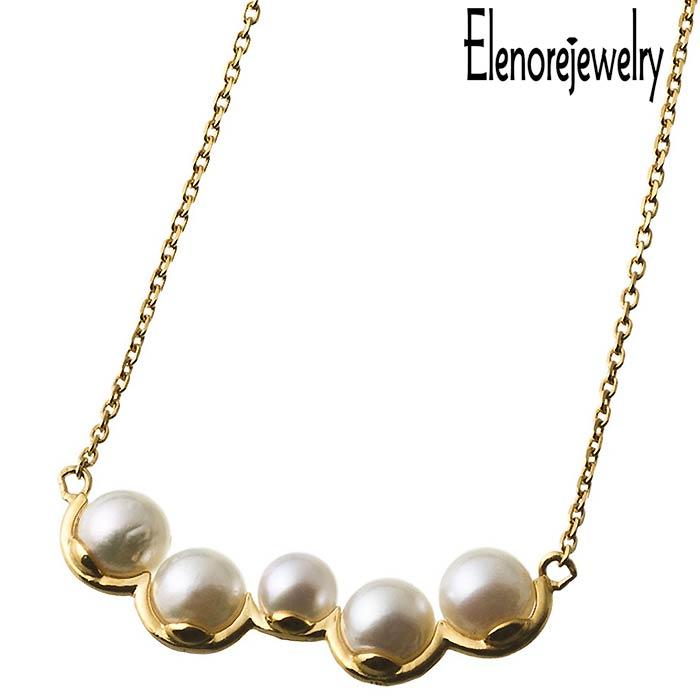 Elenore Jewelry【エレノアジュエリー】 シルバー ネックレス アクセサリー ランダム パール バー 真珠 ELP0007