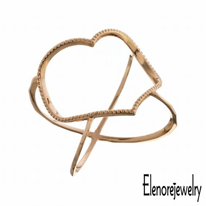 Elenore Jewelry【エレノアジュエリー】 10K ゴールド リング 指輪 アクセサリー オープンハート 9号~13号 ELR0001