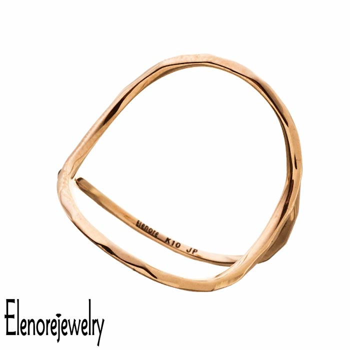 エレノアジュエリー Elenore Jewelry 10K ゴールド リング 指輪 アクセサリー オープンサークル 9号~13号 ELR0002