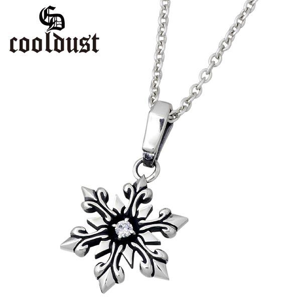 cooldust FUNKOUTS【クールダスト】 スノーフレーク シルバー ネックレス アクセサリー S 雪の結晶 カラーストーン シルバー925 スターリングシルバー FCN-025CL60-45