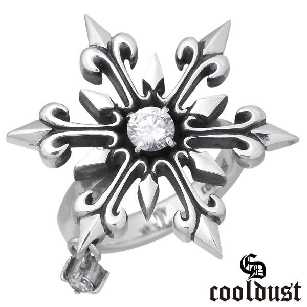 cooldust FUNKOUTS【クールダスト】 スノーフレーク シルバー リング 15号 指輪 雪の結晶 カラーストーン シルバーアクセサリー シルバー925 FCR-039-15