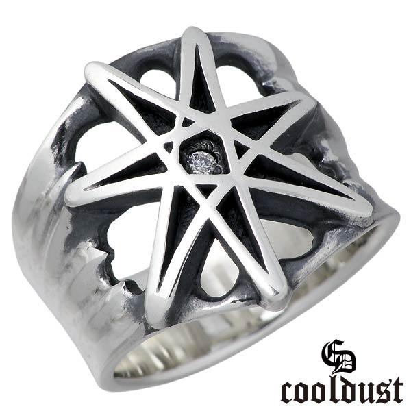 cooldust FUNKOUTS【クールダスト】 seven pointed star シルバー リング 指輪 アクセサリー スター 星 メンズ 17~21号 シルバー925 スターリングシルバー FCR-082