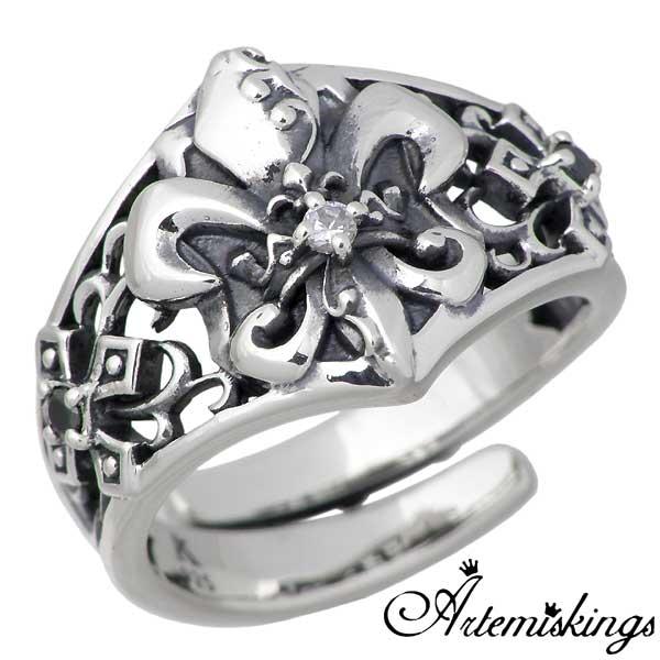 Artemis Kings【アルテミスキングス】 リリィ クラウン シルバー リング キュービック 指輪 アクセサリー 11~19号 シルバー925 スターリングシルバー AKR0032