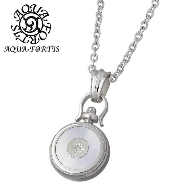 AQUA FORTIS【アクアフォルティス】 シルバー ネックレス ダイヤモンド ホワイトシェル シルバーアクセサリー シルバー925 FP-021-DM-CL60