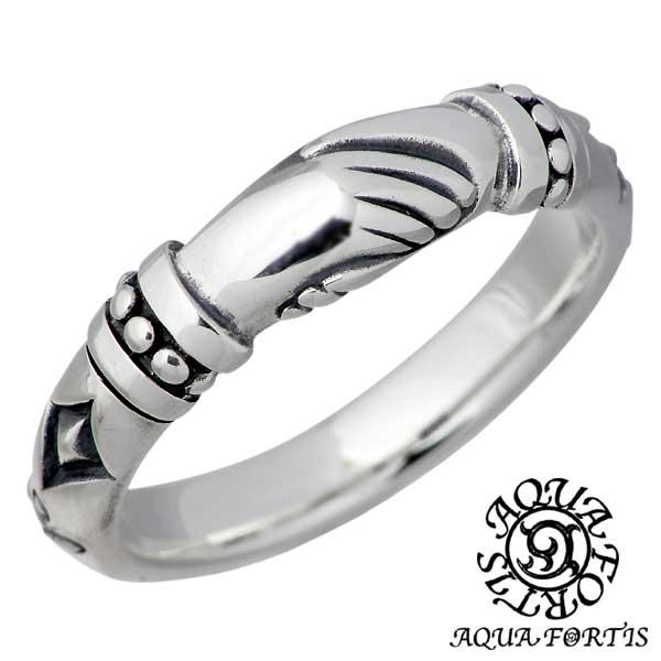 AQUA FORTIS【アクアフォルティス】 ハンドデザイン シルバー リング ブラックダイヤモンド 指輪 アクセサリー 13~21号 シルバー925 スターリングシルバー FR-010F-BKDM