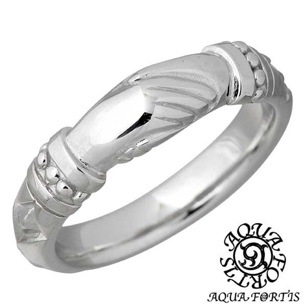 スターリングシルバー FR-010RC-DM AQUA 指輪 7~13号 アクアフォルティス リング ハンドデザイン シルバー ダイヤモンド シルバー925 アクセサリー FORTIS