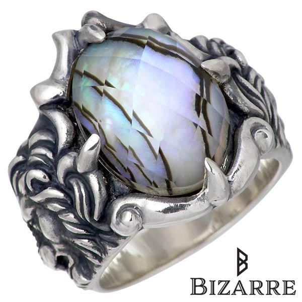 Bizarre【ビザール】 ライオン アバロン シルバー リング 指輪 14~22号 アニマル シルバーアクセサリー シルバー925 SRJ090