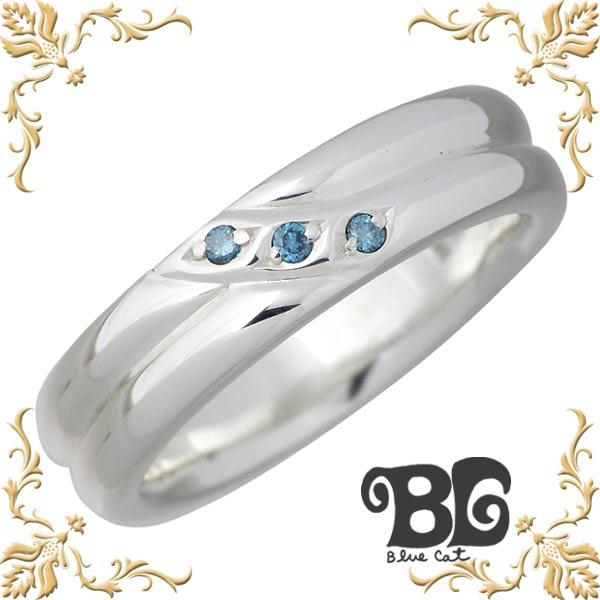 Blue Cat【ブルーキャット】 シルバー ブルーダイヤモンド リング レディース 指輪 アクセサリー 9~15号 シルバー925 スターリングシルバー SWG103-0150