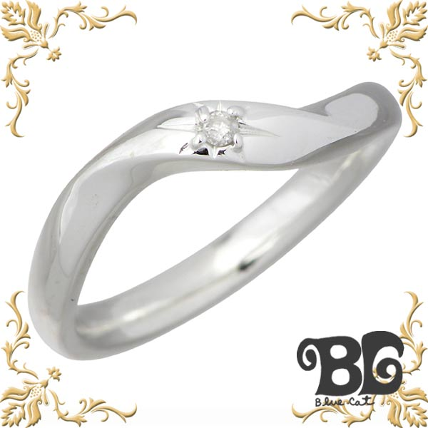 Blue Cat【ブルーキャット】 シェア デザイン ダイヤモンド シルバー リング レディース ダイアモンド 指輪 アクセサリー 9~15号 シルバー925 スターリングシルバー SWG675-1091