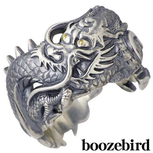 【送料無料】 boozebird ブーズバード 龍 シルバー リング K24 boozebird【ブーズバード】 龍 シルバー リング 指輪 アクセサリー K24 16~23号 シルバー925 スターリングシルバー bd001