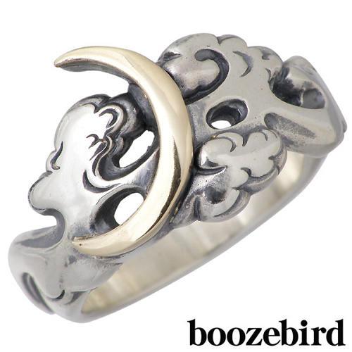 boozebird【ブーズバード】 月と雲 シルバー リング 指輪 アクセサリー K10 11~30号 シルバー925 スターリングシルバー bd006