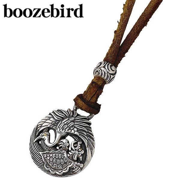 boozebird【ブーズバード】 鶴亀 シルバー ネックレス アクセサリー 革紐付き K24 シルバー925 スターリングシルバー bd020-Neck