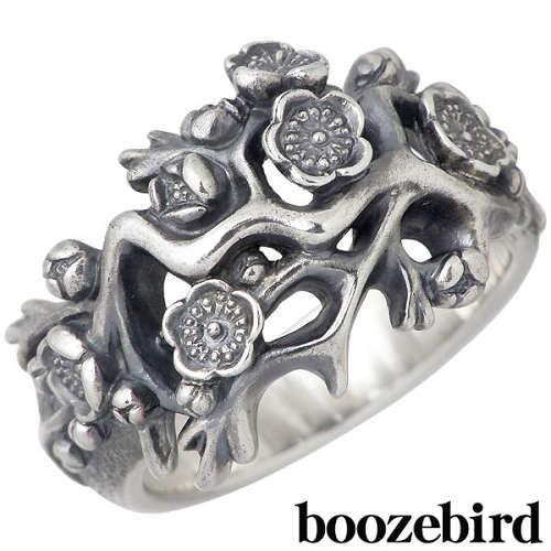 boozebird【ブーズバード】 梅 シルバー リング 指輪 11~30号 シルバーアクセサリー シルバー925 bd031
