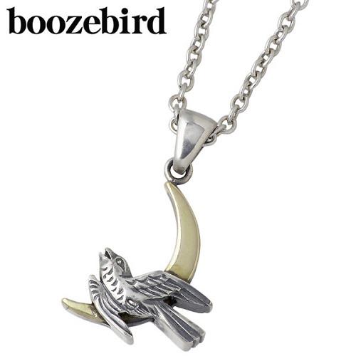 boozebird【ブーズバード】 月と雲 シルバー ネックレス アクセサリー チェーン付き 真鍮 シルバー925 スターリングシルバー bd036-Chain