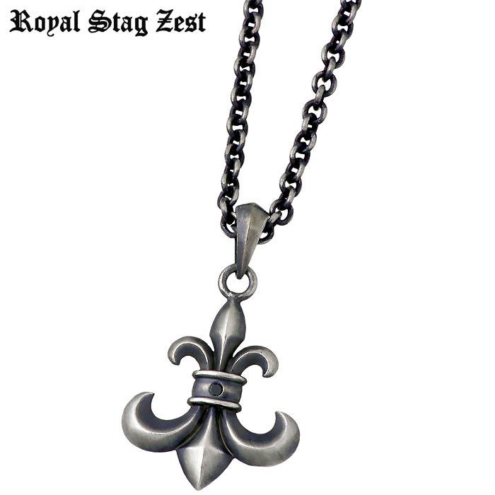 ロイヤルスタッグゼスト Royal Stag Zest シルバー ネックレス アクセサリー ブラックダイヤモンド リリー メンズ SN25-033