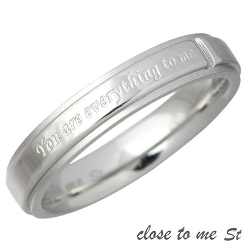 close to me【クロストゥーミー】 メッセージ ステンレス リング 金属アレルギー対応 7~21号 指輪 アクセサリー アレルギーフリー SR11-004
