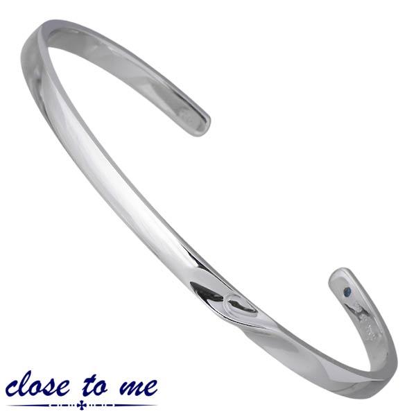 クロストゥーミー close to me シルバー バングル アクセサリー ブルーダイヤモンド シルバー925 スターリングシルバー SVA13-014