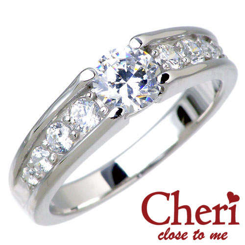 Cheri close to me【シェリ クロストゥーミー】 スーパーCZ キュービックジルコニア シルバー リング 指輪 アクセサリー シルバー925 スターリングシルバー SR37-002