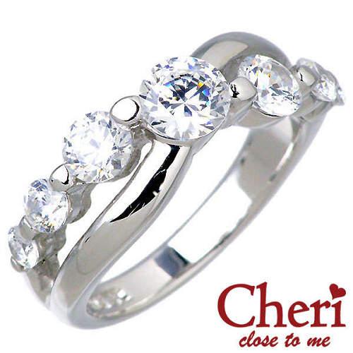Cheri close to me【シェリ】 スーパーCZ キュービックジルコニア シルバー リング 指輪 シルバーアクセサリー シルバー925 SR37-003