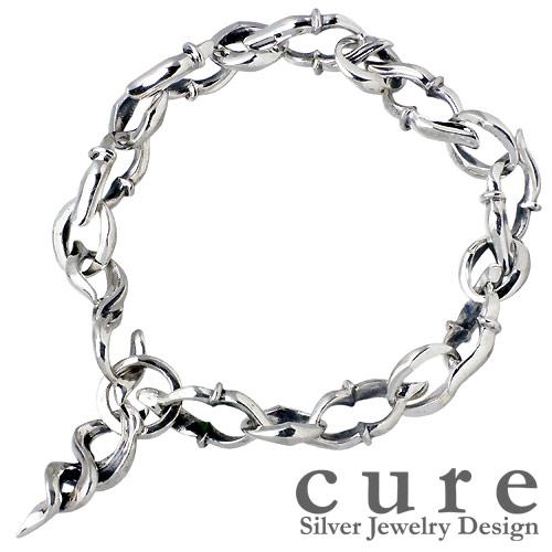 cure【キュア】 チェーン フレア シルバー ブレスレットL シルバー925 スターリングシルバー CU-BR-006-L