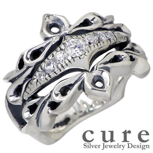 cure【キュア】 Wエミット ティアラ ×ルース シルバー リング 指輪 アクセサリー シルバー925 スターリングシルバー CU-RI-021-R