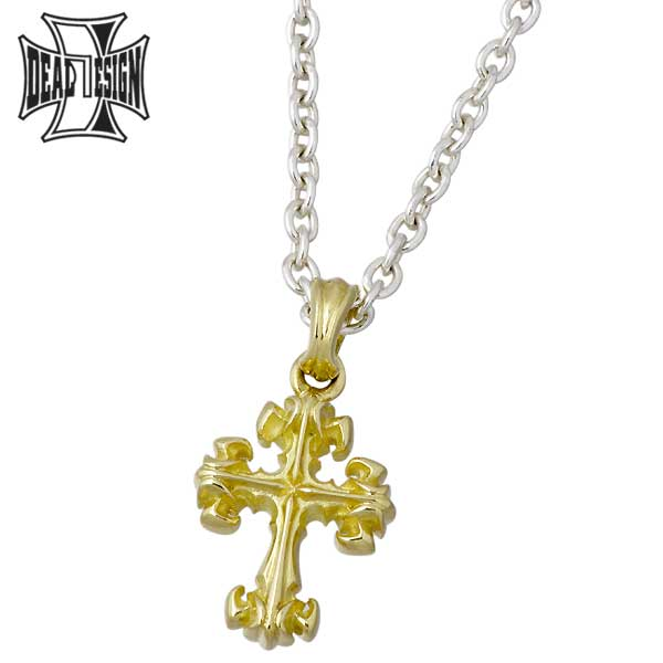 DEAL DESIGN【ディールデザイン】 タイニーリリークロス K18 ペンダントトップ アクセサリー 十字架 392158K18