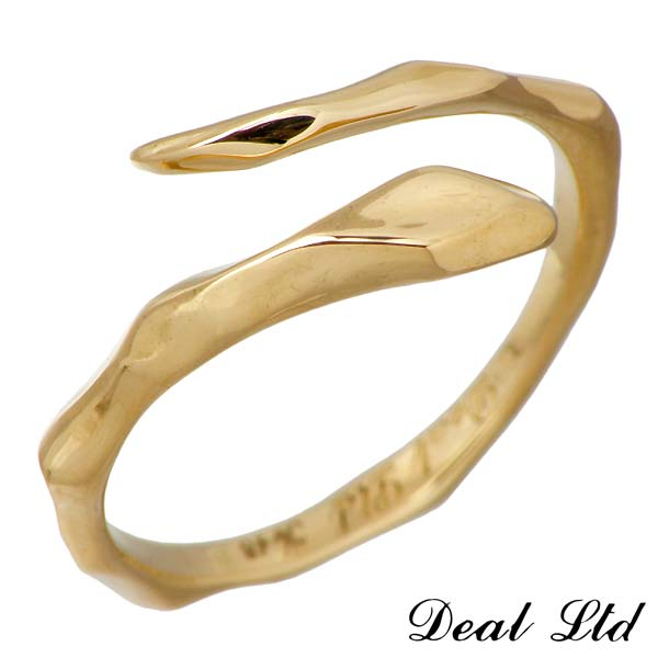 DEAL LTD【ディールエルティーディー】 LINE SNAKE RING K18 ゴールド リング スネーク ヘビ 指輪 7号~19号DEAL DESIGN【ディールデザイン】 310183K18