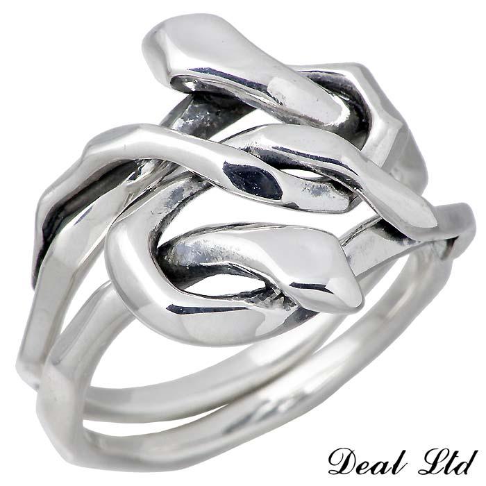 DEAL LTD【ディール エルティーディー】 KNOT SNAKE RING DOUBLE SV シルバー リング 指輪 アクセサリー 5~23号 メンズ レディース スネーク 310230SV