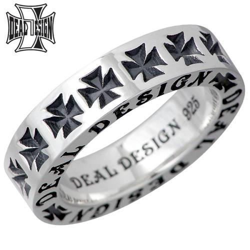 DEAL DESIGN【ディールデザイン】 フラット スタンプ シルバー リング 7~23号 クロス 十字架 指輪 シルバーアクセサリー シルバー925 391252