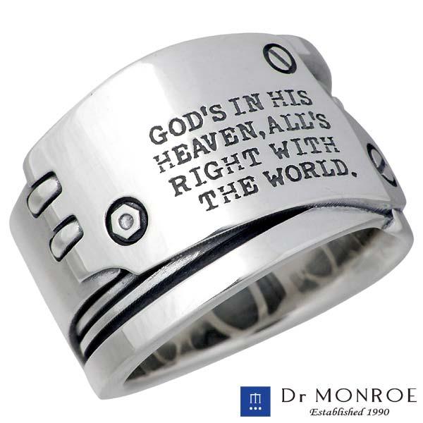Dr MONROE【ドクターモンロー】 シルバー リング メンズ メッセージ 指輪 アクセサリー 13~23号 シルバー925 スターリングシルバー FC-255-SV
